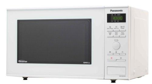 Panasonic NN-GD351WEPG Mikrowelle / 950 W / 23 L / Inverter-Grill / inklusive Pizzabräunungsteller / weiß
