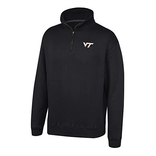 - Top of the World NCAA Men's Virginia Tech Hokies Team Color Classic Quarter Zip Pullover Black Medium