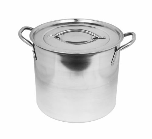 5.5 Litre Deep Mirror Polished Stainless Steel Casserole Dish Pan Stockpot & Lid