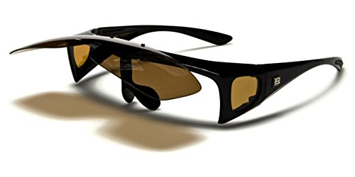 Polarized Flip Up Fit Over Sunglasses with Side - Baseball Up Flip Sunglasses