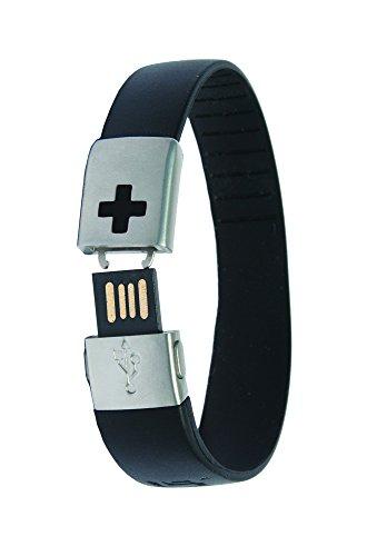 Insert Style Id Bands - EPIC-id 10-4001BLK USB Emergency ID Band, Black