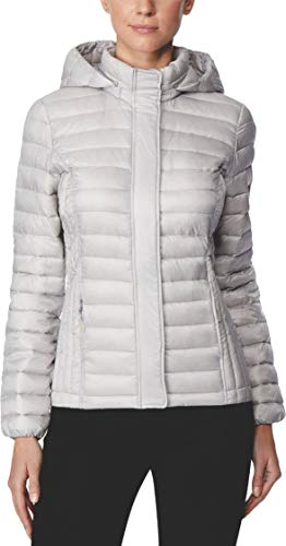 32 DEGREES Packable Hooded Puffer Coat (XS, Winter White)]()