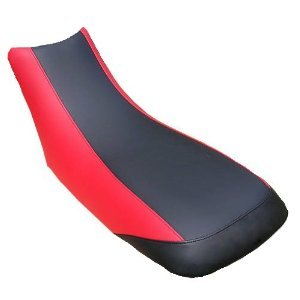 Eavdesign seat cover COMPATIBLE With HONDA 300EX 250X BLACK CENTER RED SIDES BLACK BACK Will Custimize color upon request