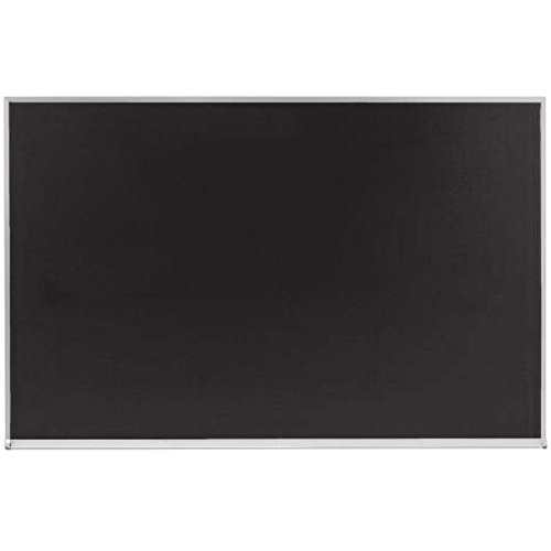 TableTop King DC3648B 36 x 48'' Black Satin Anodized Aluminum Frame Slate Composition Chalkboard by TableTop King