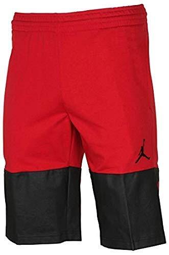 NIKE Jordan Mens Flight Lite Fleece Shorts Red/Black (3X-Large) (Retro Jordan 14)
