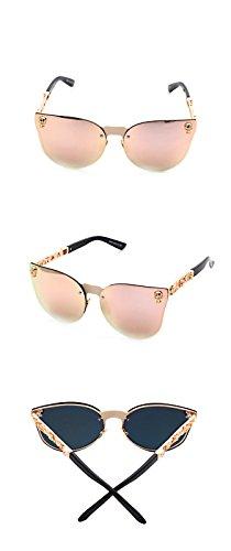 DESESHENME gafas mujeres Vintage Moda peso Retro sol Lente oro de Gafas de las Mujer de metal rojo para de sol gafas gato ojo de de de ligero Rosa rosa borde lens gafas gary borde RRrxWq1B