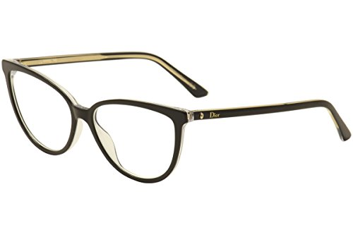 Christian Dior Eyeglasses Montaigne No.33 TKX Black/Gold Optical Frame - Christian Glasses Dior Frames
