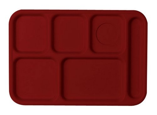Cambro (PS1014416) 10'' x 14-1/2'' Penny-Saver School Compartment Tray [Case of 24] by Cambro