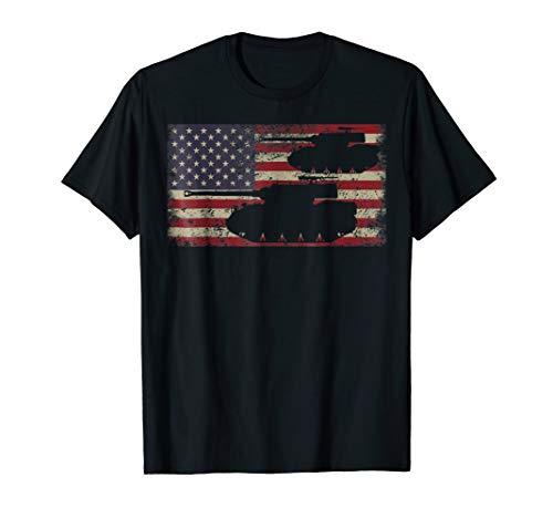 - M18 Hellcat Tank Destroyer Tshirt Gift US Flag US Flag Shirt