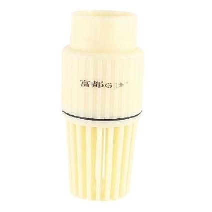 Reemplazo de 1 1/2 PT roscado Conexión Válvula de fondo Beige Foot PVC