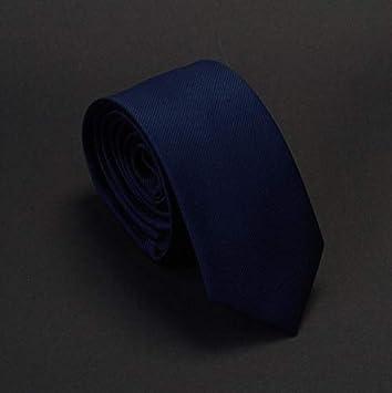 AYWEI Corbata Hombres Corbatas Clásicas De Color Azul Marino ...