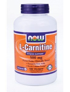 Now Foods L-Carnitine 500 mg - 180 Vcaps 2 Pack