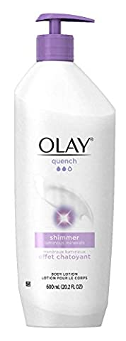 Olay Quench Plus Shimmer Body Lotion 20.2 oz. pump (Pack of 2) (Packaging May Vary) - Body Lotion Deep Moisture