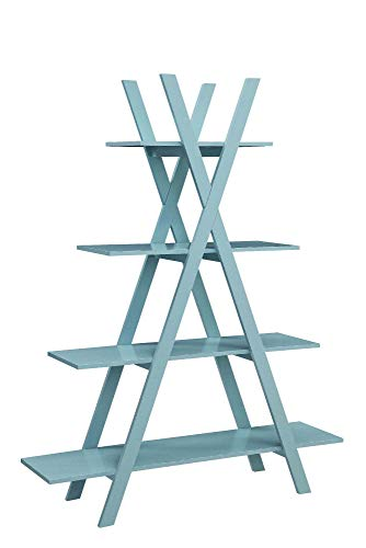 Convenience Concepts 203060SF Oxford A Frame Bookshelf, Sea Foam ()