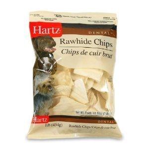 Hartz Rawhide Chips (Hartz 81271 1 Lb DentalTM Rawhide Chips by HARTZ)
