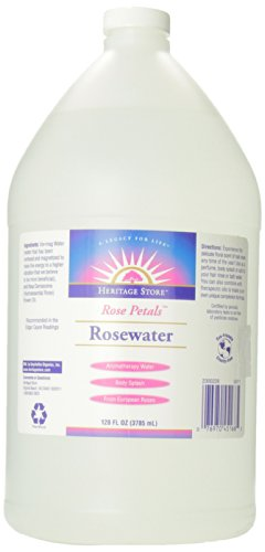 Heritage Store Body Oil, Rosewater, 128 Ounce ()