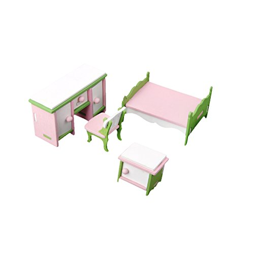 MagiDeal Dollhouse Miniature Furniture Bedroom