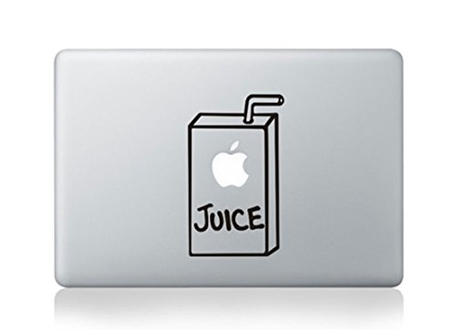 Apple Juice Box Cartoon Character Decal Sticker for Macbook