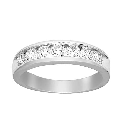Friendly Diamonds 0.91 ct Diamond Ring 925S Sterling Silver Round Cut SI-GH Quality Real Diamond Ring For Women (7/8 ct, Diamond Ring)