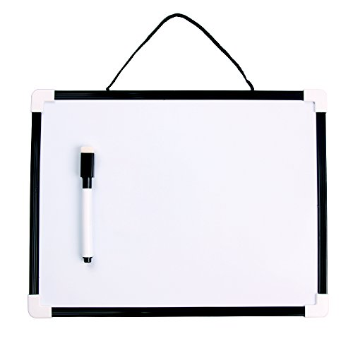 (VIZ-PRO Children Drawing Board/Kids Writing Whiteboard, Black Plastic Frame - 12 x 8 Inches)