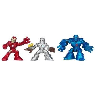 (Iron Man 3 Super Hero Squad Battle Vault Figures)