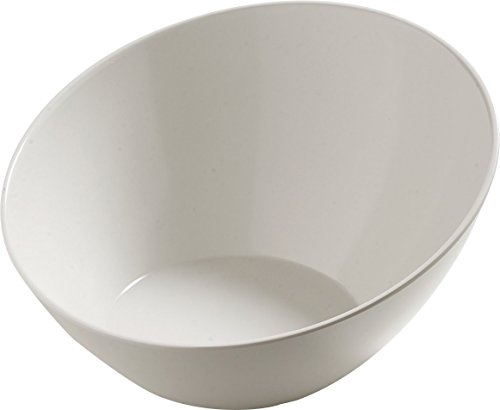 Cream Serving Bowl - Carlisle 5554637 Balsam Melamine Angled Serving Bowl, 3 qt. Capacity, Bavarian Cream
