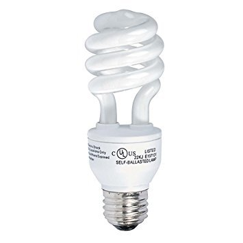 Globe Compact Fluorescent Light Bulb - Globe Electric 4850401 13-Watt Ultra-Mini Compact Fluorescent 60-Watt Incandescent Equivalent Spiral Light Bulb, Soft White, 4-Pack