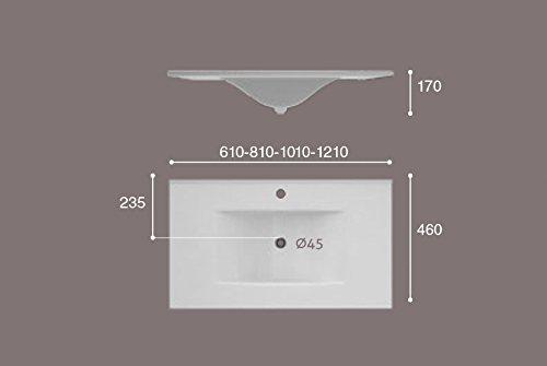 NO INCLUYE MUEBLE LAVABO SOBRE MUEBLE ART/&BATH OLAS 1210x460