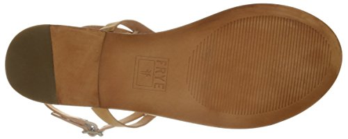 Flat Ruth FRYE Natural Sandal Mujer whipstitch t0npwAqn