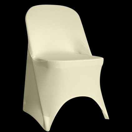 SPRINGROSE 100 Ecoluxe Ivory Spandex Stretch Folding Chair Covers | Sleek, Resilient Polyester & Elastic Spandex | for Wedding, Bridal Showers, Anniversary Party, Receptions, Celebrations, More by SPRINGROSE (Image #6)