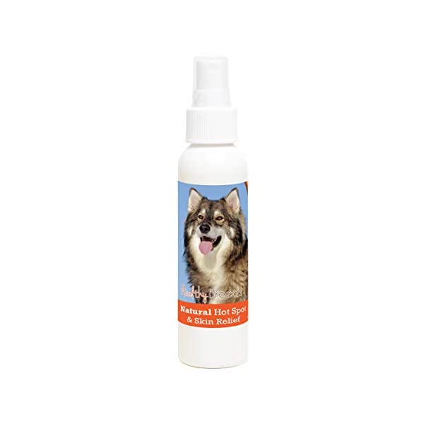 Healthy Breeds Natural Hot Spot & Skin Relief - Proprietary Blend of Oils to Heal Cuts Bites & Itches - Over 200 Breeds - Fresh Herbal Scent - 4 oz 1