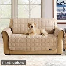 Chair Slipcover  taupe Sure Fit Deluxe Pet Cover