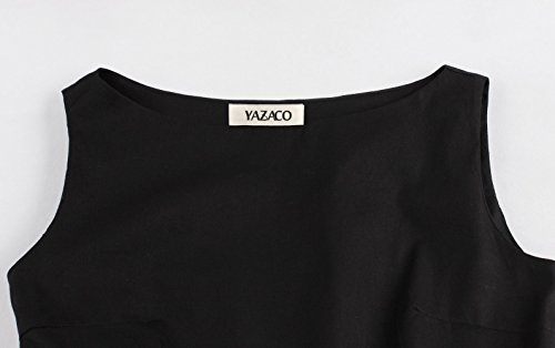 YAZACO Women's Plus Size 1950s Vintage Dresses Sleeveless Lace Cocktail Swing Dress