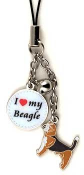 Beagle Dog Cell Phone Charm