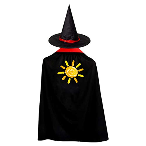 (Sunshine Kids' Witch Cape With Hat Generous Vampire Cloak For Halloween Cosplay)
