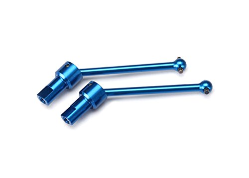 Traxxas 7650R Blue-Anodized 6061-T6 Aluminum Front & Rear Driveshaft Assembly (pair)