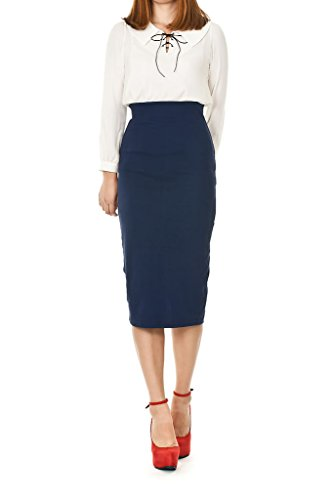 Long Navy Pencil Skirt