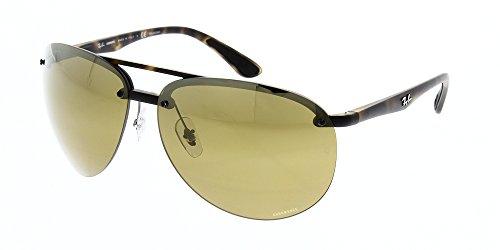 Ray-Ban Men's 0rb4293ch894/a364plastic Man Polarized Iridium Aviator Sunglasses, Matte Havana, 65 - Ban Rimless Aviator Ray Sunglasses