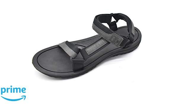 KUAILU Men's Yoga Mat Leather Flip Flops Thong Sandals with