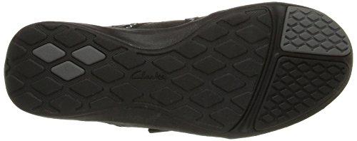 Clarks Mujeres Asney Slipon Fashion Sneaker Black Leather
