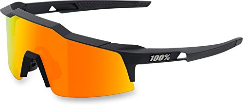 100% Speedcraft SL Sunglasses: Soft Tact Black Frame with HD Red Multilayer Mirror Lens, Spare Clear Lens (100 Glasses)
