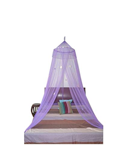 OctoRose  Daisies Bed Canopy Mosquito Net Bed, Dressing Room, Out Door Events (purple)