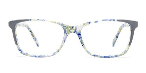 TIJN Subtle Acetate Floral Cat-eye Modern Eyeglasses for Women