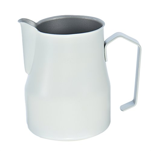 Steel Milk Frothing Pitcher - Perfect for Espresso Machines, Milk Frothers, Latte Art (24 Ounce Milk Pitcher)