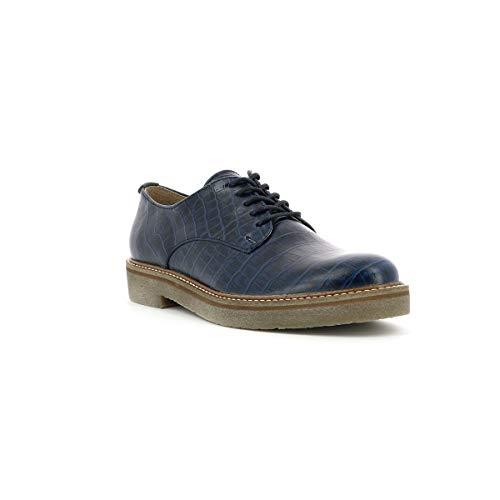 Kickers Grey Femme Oxfork Blue Derbys Dark r1WrAg8