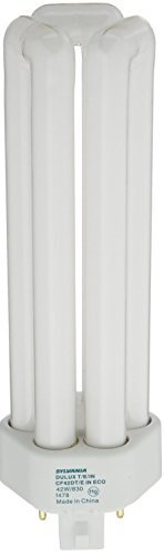 Sylvania 20888 (12-Pack) CF42DT/E/IN/830/ECO 42-Watt Triple Tube Compact Fluorescent Light Bulb, 3000K, 3200 Lumens, 82 CRI, T4 Shape, 4-Pin GX24q-4 Base