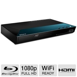 Sony Blu-ray Disc Player With Full HD 1080p Resolution, Built-in 2.4