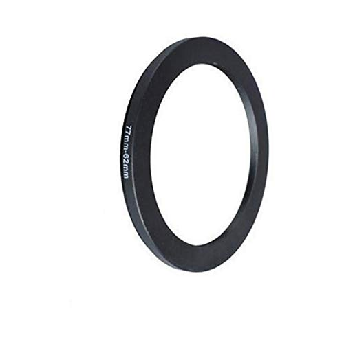 Universal 77-62mm /77mm to 62mm Step-Down Ring Filter Adapter for UV,ND,CPL,Metal Step-Down Ring Adapter