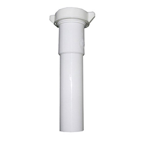 - LASCO 03-4321 White Plastic Tubular 1-1/2-Inch by 6-Inch Slip Joint Extension with Nut and Washer