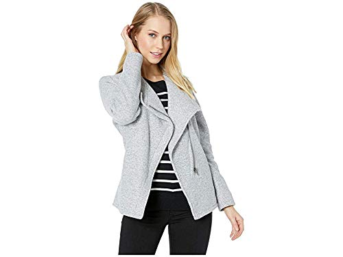 - BB Dakota Junior's Fleece in Mind Brushed Knit Zip Front Jacket, Light Heather Grey Extra Small
